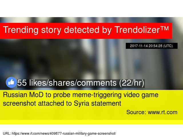 Russian MoD to probe meme-triggering video game screenshot attached ...
