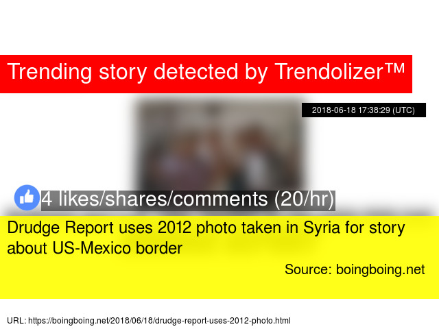 Drudge Report uses 2012 photo taken in Syria for story about